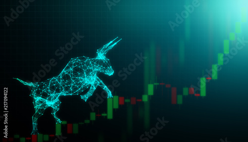 Bull market, Financial and business concept Fototapete