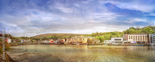 Panoramic landscape of a small town Bantry in a county Cork Wallpaper Mural