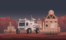 Mars Rover Vehicle And Space C...