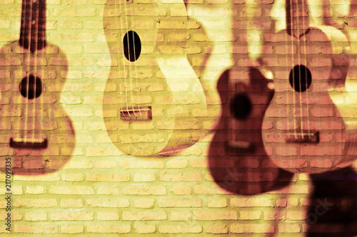 old guitars hung heavy as bricks - Buy this stock