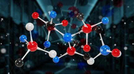 Obraz Modern digital molecule structure 3D rendering