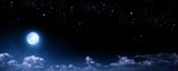 Fototapeta Na sufit - beautiful background, nightly sky with full moon