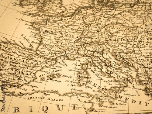 Poster Mediterraans Europa 古地図 ヨーロッパ