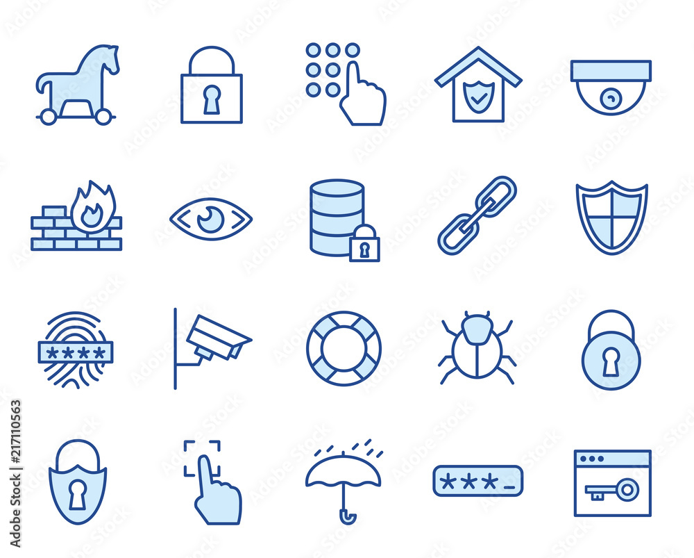 Fototapeta Sicheheits / Security Vector Icon Set