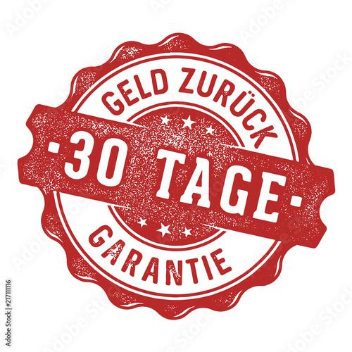 Obraz na plátně 30 Tage Geld zurück Garantie Siegel/Stempel