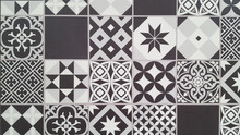 Beautiful White Black Mosaic B...