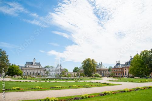 Fotografie, Obraz  Schloß und Park Schloßpark Pillnitz bei Dresden Elbflorenz