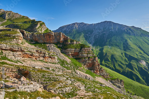 Poster Bergen The Caucasus mountains in Russia