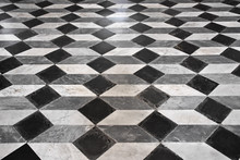 Floors Inlaid In Different Styles, Typical Of Many Churches And Catholic Basilicas Of Italy.
