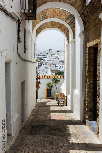 Fototapety, obrazy: Covered walkway in an Andalusian white village (Vejer de la Frontera, Spain)