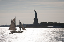 Statue Of Liberty And Liberty Island In New York City