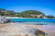 Sea coast in Blanes, Santa Crictina Beach, Costa Brava, Spain