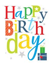Cheerful Birthday Greeting Card