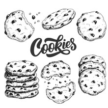 Sketch Ink Graphic Cookies Set...