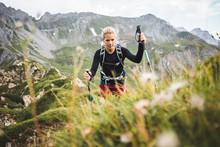 Adventurous Sportive Girl Hiki...