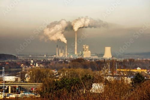 Photo  Thermal power station in Melnik, Czech republic.