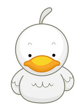 Animal Duck Sit Illustration