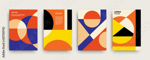 Fotomural Vector trendy abstract geometry covers collection