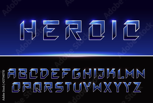 Vector Metallic Modern Bold Font Strong Futuristic Alphabet Lettering Capital Letters Great Font For Headlines Labels Quotes Titles Posters Or Logotypes Latin Alphabet Letters Buy This Stock Vector And Explore Similar