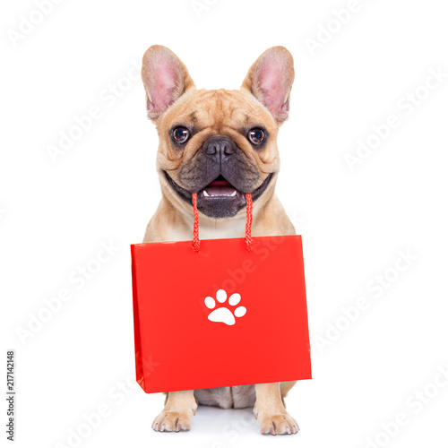 Papiers peints Chien de Crazy sale shopping dog