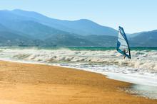 Windsurfers In The Sea On Cret...