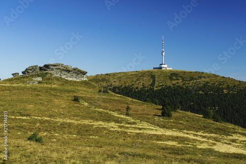 Fototapeta  Praděd Mountain is the highest mountain in Moravia, Peter's stones are part of the National Nature Reserve Praděd