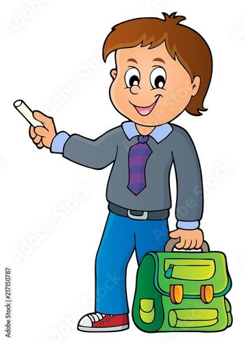 Poster Voor kinderen Happy pupil boy theme image 7