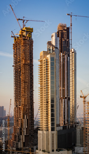 New skyscrapers are being built rapidly throughout Abu Dhabi
