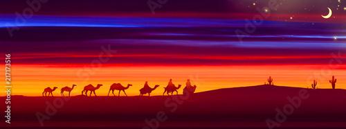 Poster Bordeaux 3D illustration. Beautiful landscape during sunset.