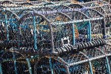 Large Stack Of Lobster And Crab Traps