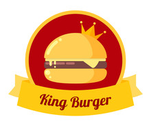 King Burger Illustration. Vect...