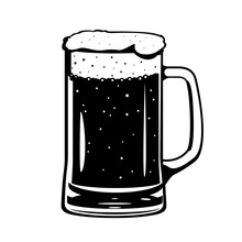 Beer Glass Mug Black And White