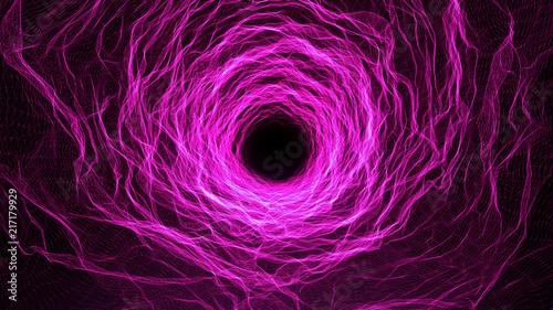 Organic Biotechnology Abstract Seamless Purple Tunnel Sci