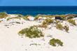 White sand beach in Caletón Blanco in Lanzarote, Spain