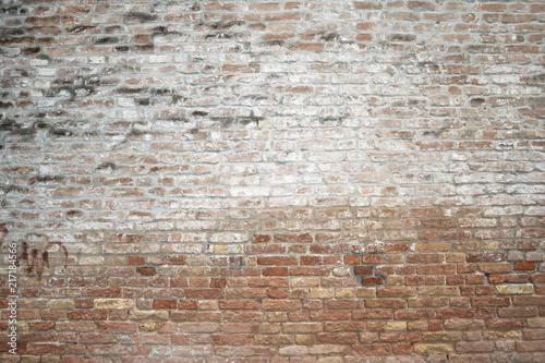Deurstickers Baksteen muur ancient brick wall