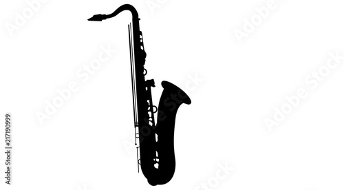Fotografie, Obraz sax, sassofono, sagoma, silhouette