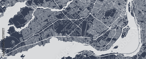 Photo map of the city of Montreal , Canada
