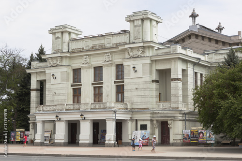 Foto op Plexiglas Theater The facade of the Evpatoria Theater named after Pushkin in the city of Evpatoria, Crimea, Russia