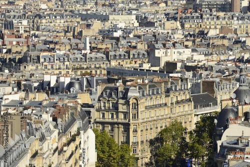 Photo sur Toile Europe Centrale Vue sur les toits de Paris - A view over Paris, France