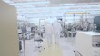 Scientists Working In A Nanofabrication Cleanroom Facility