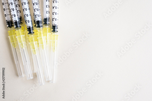 Vászonkép  Fine syringes for use in medicine