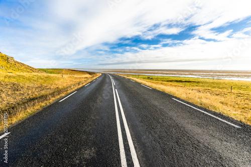 In de dag Route 66 Road in Iceland