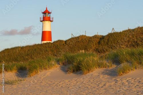 Foto op Aluminium Vuurtoren Lighthouse List-Ost on the island Sylt, Germany