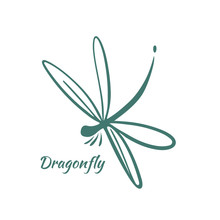 Dragonfly Logo Design Template. Vector Illustration