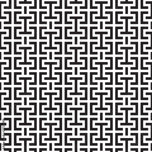 Poster Kunstmatig SQUARE LABYRINTH TEXTURE. MODERN STRIPED SEAMLESS VECTOR PATTERN.