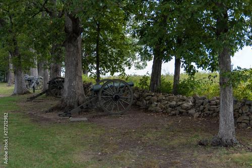 Fotografie, Obraz  Confederate Artillery Position at Gettysburg