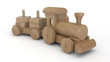 3D Illustration Of Wooden Toy ...