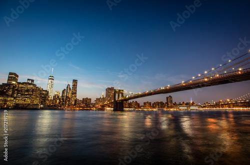 Photo New York city sunset panorama