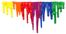 Colorful Paint Dripping Isolat...