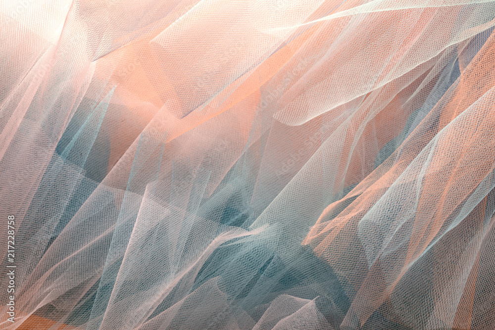 Fototapety, obrazy: background with organza cloth